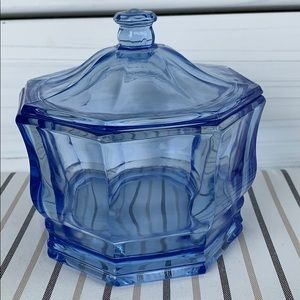 Vintage Indiana Glass candy dish with lid